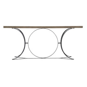Taupe Canyon Ridge Metal Console Table