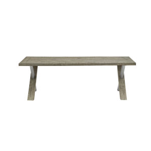 Glazed Silver and Brown Loft Milo Cocktail Table