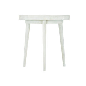 White Loft Booker Round End Table