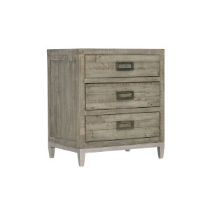 Glazed Silver and Brown 26-Inch Loft Shaw Nightstand