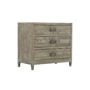 Glazed Silver and Brown 32-Inch Loft Shaw Nightstand