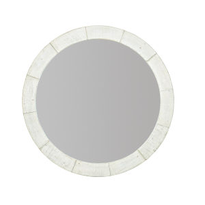 White Loft Piper Round Mirror