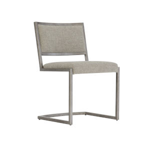 Glazed Silver and Brown Loft Ames Metal Side Chair