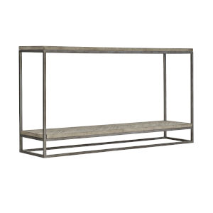 Glazed Silver and Brown Loft Gresham Console Table