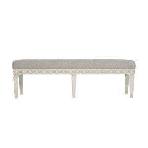 Allure Manor White 60-Inch Bench