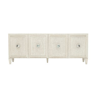 Allure Manor White 82-Inch Entertainment Console