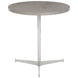 Freestanding Occasional Silver and Gray 24-Inch End Table
