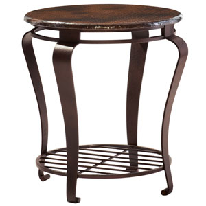 Freestanding Occasional Dark Brown and Black Undertones 22-Inch End Table