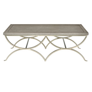 Marquesa Gray Cashmere and Graphite 57-Inch Cocktail Table