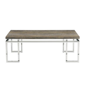 Interiors Gray Pearl and Silver 50-Inch Cocktail Table