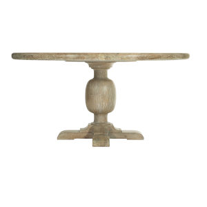 Rustic Patina Sand Round Dining Table