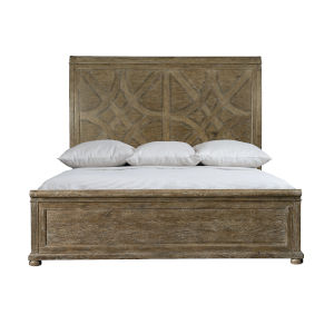 Rustic Patina Peppercorn Panel King Bed