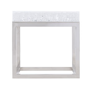 Exteriors White Aventura Square Acrylic End Table