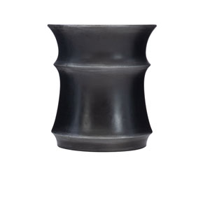 Exteriors Black Maya Round Accent Table