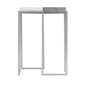 Exteriors White Montana Side Table