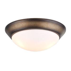 French Beige Two-Light LED Ceiling Fan Light Kit