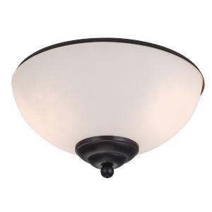 Matte Black Two-Light LED Ceiling Fan Light Kit