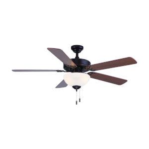 Dalton Oil Rubbed Bronze 52-Inch Two-Light LED Ceiling Fan