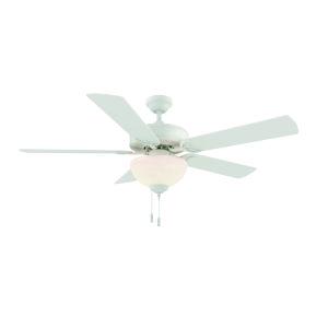 Dalton White 52-Inch Two-Light LED Ceiling Fan