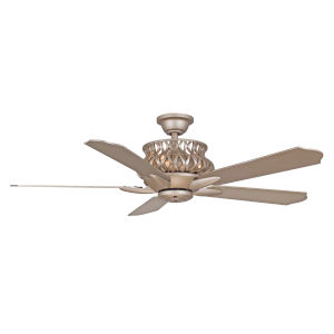 Estela Iced Gold 52-Inch Four-Light LED Ceiling Fan