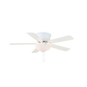 Frisco White 44-Inch Two-Light LED Ceiling Fan