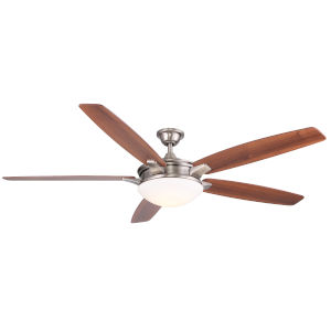 Novato Nickel 70-Inch LED Ceiling Fan