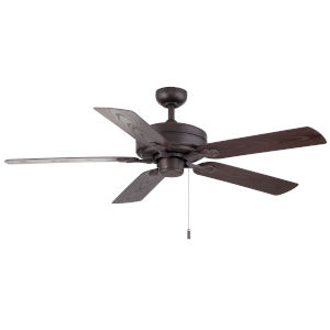 Courtyard Textured Brown 52-Inch Two-Light Ceiling Fan