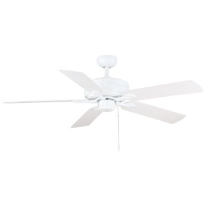 Courtyard White 52-Inch Two-Light Ceiling Fan
