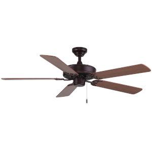 Dalton Oil Rubbed Bronze 52-Inch Two-Light Ceiling Fan