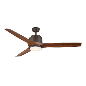 Sora Textured Brown 56-Inch LED Ceiling Fan
