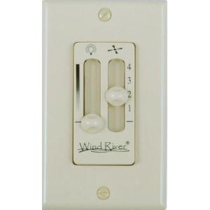 Almond Dual Fan Light Wall Control