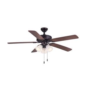 Dalton Oil Rubbed Bronze 52-Inch Three-Light LED Ceiling Fan