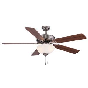 Dalton Nickel 52-Inch Two-Light LED Ceiling Fan