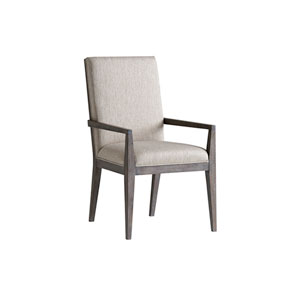 Santana Beige Bodega Upholstered Dining Arm Chair