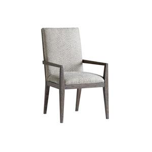 Santana Gray Bodega Upholstered Dining Arm Chair