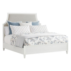 Avondale Linen White Inverness Upholstered Queen Bed
