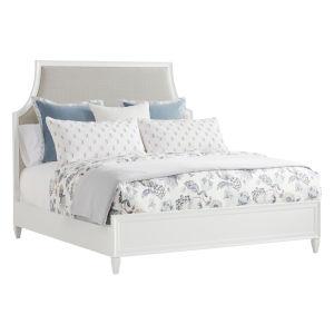 Avondale Linen White Inverness Upholstered King Bed