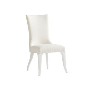 Avondale Linen White Geneva Upholstered Side Chair