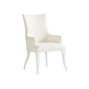 Avondale Linen White Geneva Upholstered Arm Chair
