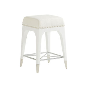 Avondale Linen White Northbrook 24-Inch Counter Stool