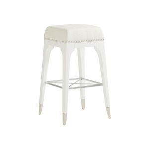 Avondale Linen White Northbrook 30-Inch Bar Stool