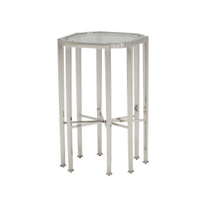 Avondale Linen White Savino 23-Inch Accent Table