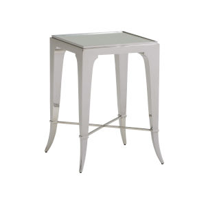 Avondale Linen White Hoffman 24-Inch End Table
