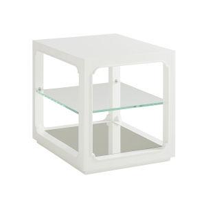 Avondale Linen White Glenwood 24-Inch End Table