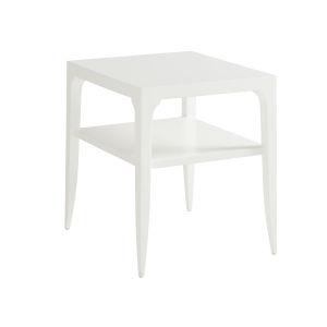 Avondale Linen White Carrington 24-Inch End Table