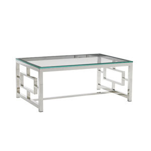 Mirage Silver Russell Glass Top Cocktail Table