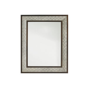 Tower Place Beige and Brown Python Mirror