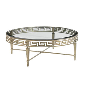 Tower Place Gold Deerfield Round Cocktail Table