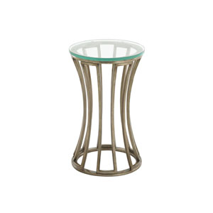 Tower Place Gold Stratford Round Accent Table