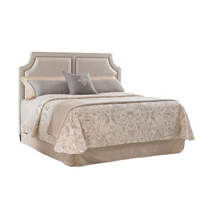 Kensington Place Beige Chadwick Upholstered King Headboard